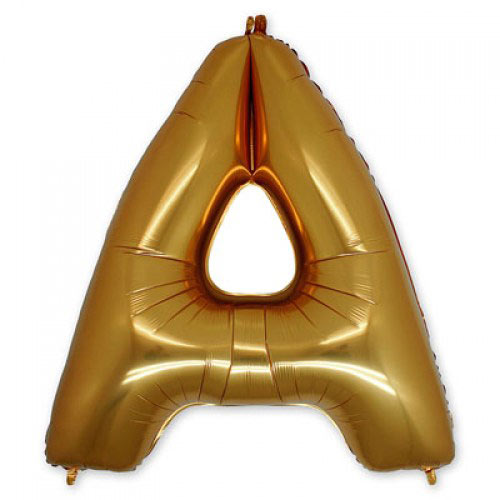 "Шар-фигура буква А 40"" Gold"