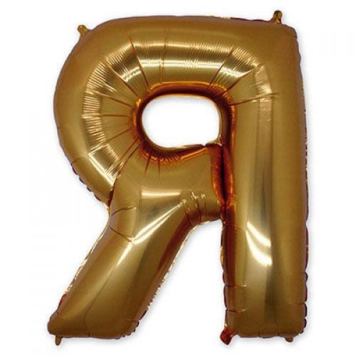 "Шар-фигура буква Я 40"" Gold"