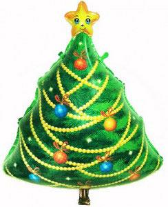Шар (29''/74 см) Фигура, Новогодняя елка, 1 шт.