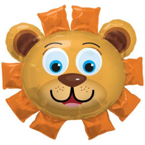 Шар (35''/89 см) Фигура, Голова Льва, Оранжевый, 1 шт.