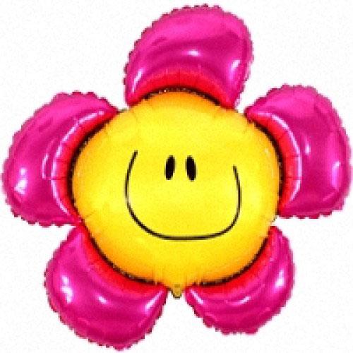 Шар (40''/102 см) Фигура, Солнечная улыбка, Фуше, 1 шт.