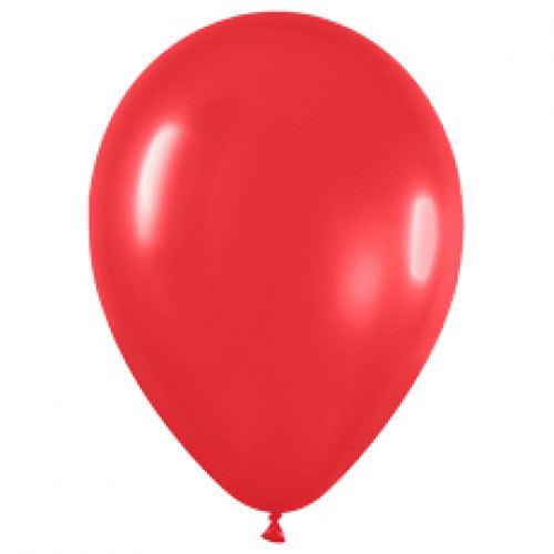 Шар (12''/30 см) Красный (015), пастель, 1 шт.