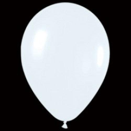 Шар (12''/30 см) Белый (005), пастель, 1 шт.