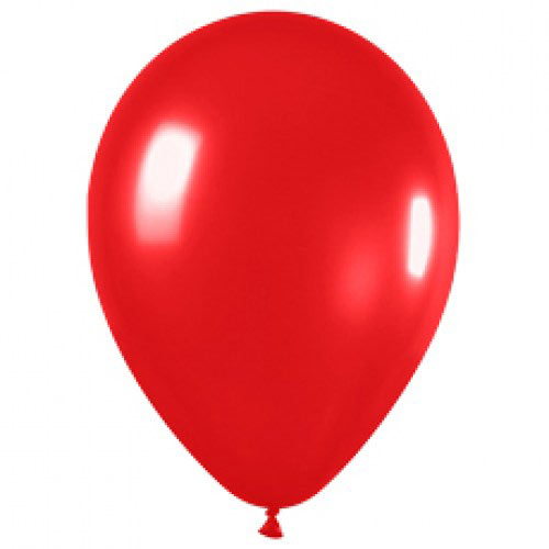 Шар (12''/30 см) Красный (515), металлик, 1 шт.