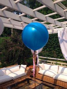 Большой латексный шар с гелием