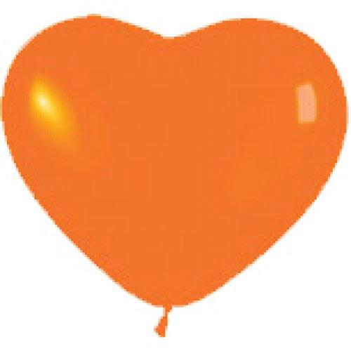 Сердце (12''/30 см) Оранжевый (061), пастель, 1 шт