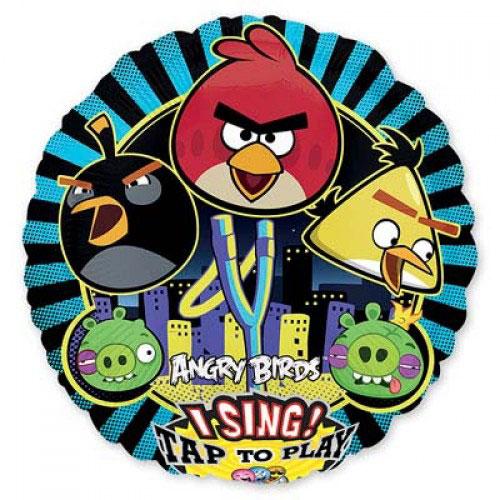 Шар музыкальный Angry Birds, 71 см