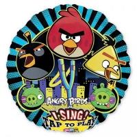 Музыкальный поющий шар Angry Birds, 71 см с гелием