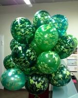 Воздушные шары камуфляж на 23 февраля