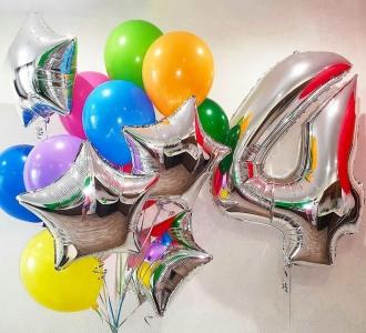 Букет из шаров «Яркий! День рождения »