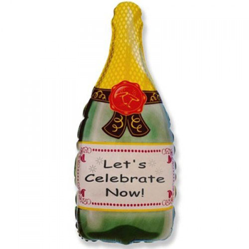 Шар (32''/81 см) Фигура, Бутылка шампанского