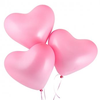 Сердце (12''/30 см) Розовый (009), пастель, 1 шт