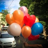 Готовый воздушный надутый букет шаров нежная любовь