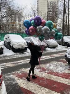 Воздушные шары Хром зеркальный праздник