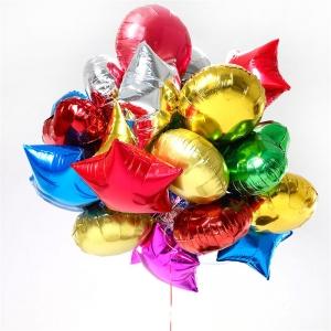Фольгированные шары «Звезды,круглые,сердца »
