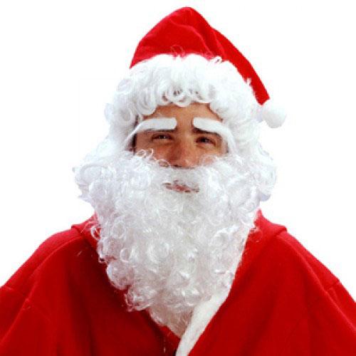 Парик Дед Мороз, шапка, борода и брови