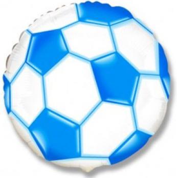 Шар (18''/46 см) Круг, Футбольный мяч, Синий, 1 шт.