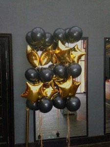 Стойка из латексных и фольгированных шаров