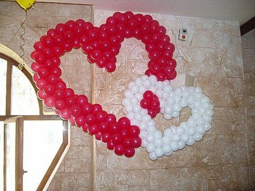 Сердца из воздушных шаров № 2