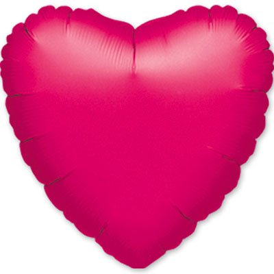 "Шарик 18"" сердце металлик Fuchsia"