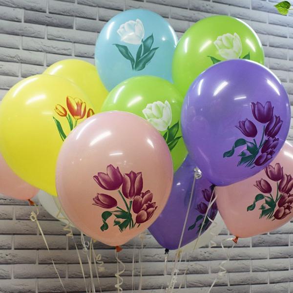 """Воздушные шарики 12""""/30СМ  Тюльпаны С 1 СТ. 2 ЦВ."""