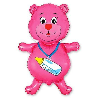 1207-0476 Шар фигура Медвежонок девочка