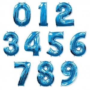 Синие (Blue) цифры из фольги от 0 до 9
