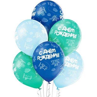 Ассорти на день рождения шары украшены самолетами