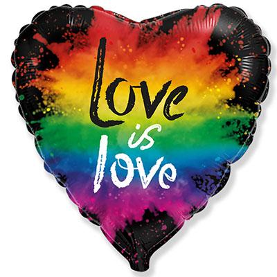 LOVE IS LOVE - шар сердце с любовью