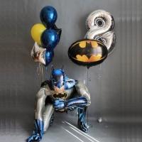 Готовая композиция из шаров в стиле Бэтмена